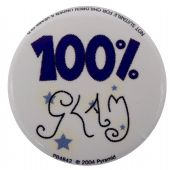 100% Glam - Button Badge